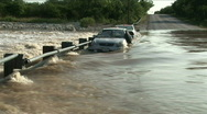 Stock Video Footage of car flooding wideshot
