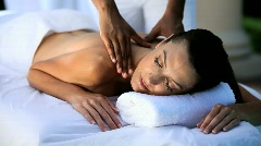 Luxury Spa Treatment Stock Footage