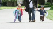 Kids to School Stock Footage