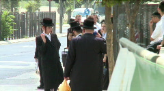 Jewish Orthodox people 4 Stock Footage