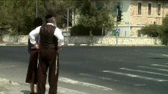 Jewish Orthodox people 5 Stock Footage