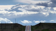 Stock Video Footage of Highway into the Clouds Time Lapse