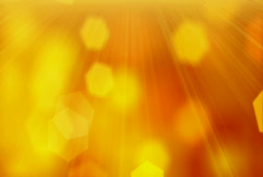 Loopable orange background slowly flying hexagon blurred particles Stock Footage