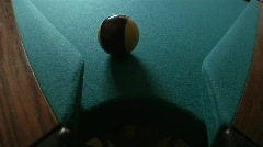Billiards ball corner pocket Stock Footage