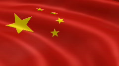 Stock Video Footage of China FlagInTheWind