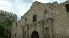 The alamo pan down up - stock footage