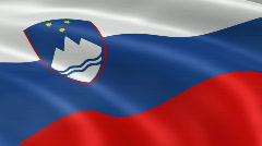 Slovenia FlagInTheWind Stock Footage