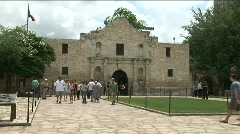 The alamo front Stock Footage