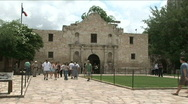 Stock Video Footage of The alamo front