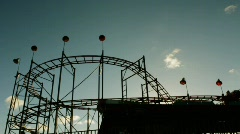 Roller Coaster - stock footage