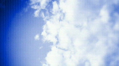 Bokah sky clouds weather sunshine climate environment Stock Footage