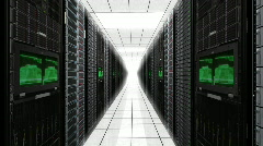 Server Room Racks - stock footage