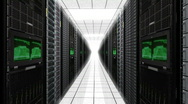 Stock Video Footage of Server Room Racks