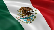 Stock Video Footage of Mexico FlagInTheWind