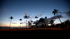 Hawaii Magic Island Sunset 6 Stock Footage