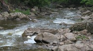 River and Rocks Stock Footage