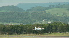 Aircraft landing Stock Footage