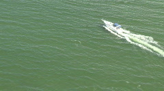 Aerial Cabin Cruiser Stopped Go Stock Footage