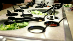 Salad Bar at restaurant Stock Footage