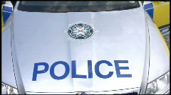 Police Service Northern Ireland logo Stock Footage