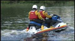 RNLI River patrol Stock Footage