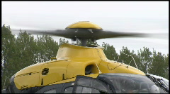 Police Helicopter on the ground Stock Footage