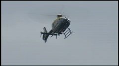 Police Helicopter surveying Stock Footage
