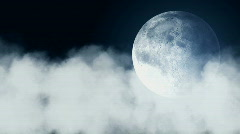 Cloud and Full Moon - stock footage