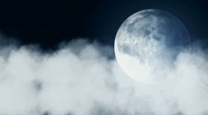 Cloud and Full Moon Stock Footage