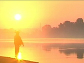 Stock Video Footage of morning fishing