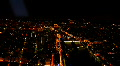 Illuminated Paris Skyline Time Lapse Aerial Cityscape, Boats Seine River night Footage