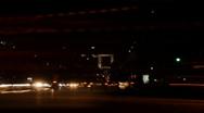 Paris Night Skyline Time Lapse of Avenue de la Grande Armee, Grande Arche Stock Footage