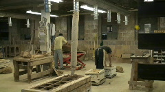 Pottery factory Stock Footage
