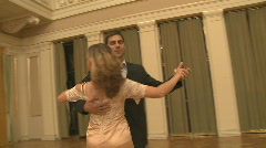 Couple Dancing a Waltz in Ballroom - stock footage