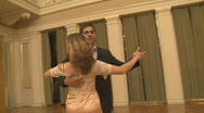 Stock Video Footage of Couple Dancing a Waltz in Ballroom