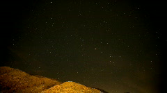 Time Lapse desert night sky Stock Footage
