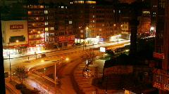Night traffic in Kayseri Stock Footage