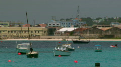 Bay Marina Boats Time Lapse - Barbados - 01 Stock Footage
