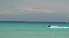 Jet Ski Fly-By - Barbados Stock Footage