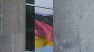 Stock Video Footage of HD1080p German flag on Reichtstag Berlin