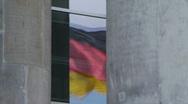 HD1080p German flag on Reichtstag Berlin Stock Footage