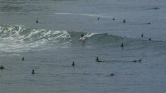 Surf cove longboard ride 2 Stock Footage