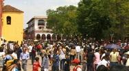San cristobal crown before parade Stock Footage