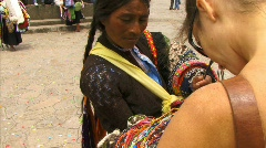 San cristobal seller petra2 Stock Footage