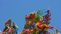 Asian Tao temple dragon (zoom) Stock Footage