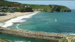 Portreath beach time lapse in Cornwall UK. Stock Footage