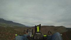 Ultralight flight legs resting HD GP 0003 Stock Footage