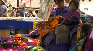 Stock Video Footage of san cristobal market weaver1