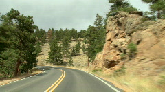 Rocky Mountain Driving 02 - stock footage