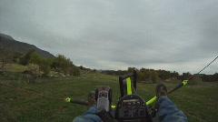 Ultralight low by trees HD GP 0004 Stock Footage